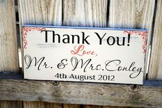 Wedding Photo Prop Thank You sign with Bride and by SignsToLiveBy, $38.95