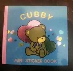 Sanrio Cubby Mini Foil Sticker Book Vintage NEW!