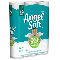 Angel Soft Toilet Paper Bath Tissue, 12 Double Rolls, Sheets Per Roll - Cat store galore Best Toilet Paper, Bathroom Toilet Paper Holders, Double Bath, Sweetarts, Cat Store, Septic System, 2 Ply, Packing, Angel