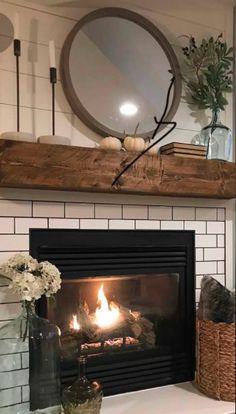 Brick Fireplace Decor, Fireplaces, Living Room, Future, Home Decor, Fireplace Set, Fire Places, Future Tense, Decoration Home