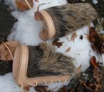 BRACERS WITH WILD BOAR FUR, LEATHER ARMOUR MANUFACTURER, WHOLESALER, USA, GERMANY