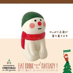 デコレ(decole)クリスマス まったりマスコットデコレ(decole)クリスマス まったりマスコット:正座スノーマン:歌うインコ