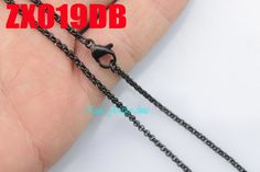 """14""""-38"""" black color  stainless steel necklace  2mm round rolo link chains women fashion jewelry 20pcs ZX019DB"""
