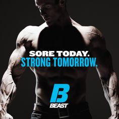 """""""Sore Today. Strong Tomorrow."""" #Muscle #Lifting #Squats #ArmDay #LegDay #Motivation Arm Day, Legs Day, You Fitness, Health Fitness, Great Quotes, Inspirational Quotes, Muscle Training, Sports Nutrition, Gym Rat"""
