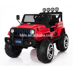 Electric Ride on Jeep Remote Control Off Road Kids Car with Built-in Songs - Red Buy Jeep Wrangler, Jeep Cars, Kids Ride On, Ride On Toys, Radio Control, Childcare, 4x4, Remote, Monster Trucks