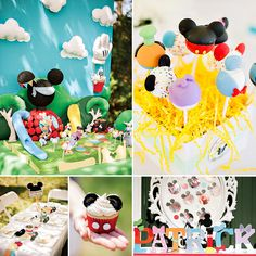 Welcome to Patrick's Clubhouse! Vanessa Grant Events, LLC styled this bright & Colorful Mickey Mouse Clubhouse Birthday Party with adorable cake pops by 'kCreative' Cake Pops and brilliant photography by 2 Girl Phototique! #MickeyMouse #Mickey #FirstBirthday http://hwtm.me/16kh7xV