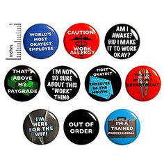 Funny Work Buttons Pins for Backpacks or Fridge Magnets Funny 10 Pack Gift Set 1 Inch Outerspacebacon Work Jokes, Work Humor, Funny Buttons, Bee Gifts, Work Gifts, Funny Work, Cheap Gifts, Backpacks, Etsy