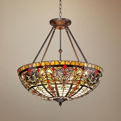 """Corazon Bronze 25"""" Wide Robert Louis Tiffany Pendant Light - #2X409 