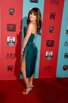 "Lea Michele at the premiere of ""American Horror Story: Freak Show"""
