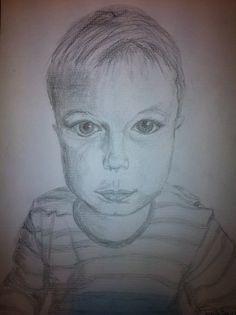 min første portræt tegning