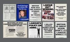 Political Leaders, Politics, Saatchi & Saatchi, Margaret Thatcher, Labour Party, Party Poster, Better Life, Britain, Presentation