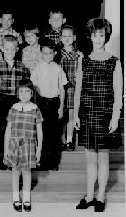 Peggy Whitley was the first teacher allowed to teach pregnant and showing. 1968.