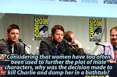 """A """"Supernatural"""" Writer Got Dragged At Comic-Con After A Fan Asked A Question About Fridging"""