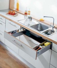 Kitchen Under Sink Storage Add Drawers The