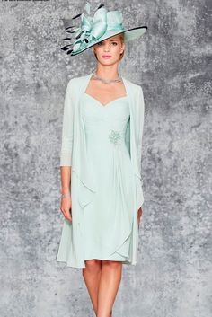 Ronald Joyce 991103 02 chiffon dress in length sleeves are sheer with intricate lace applique, and that continues onto the back of the dress. Mother Of Bride Outfits, Mother Of Groom Dresses, Mothers Dresses, Mother Of The Bride, Elegant Dresses, Pretty Dresses, Mob Dresses, Bride Dresses, Groom Outfit