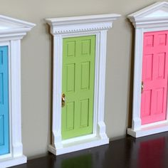 small fairy door to add to the bottom of a bedroom wall.  SO cute!