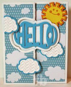 Hello Sunshine! created by Frances Byrne using Sizzix Hello Sunshine Triplits; Sizzix Lively Frame Flip-its Card Framelits