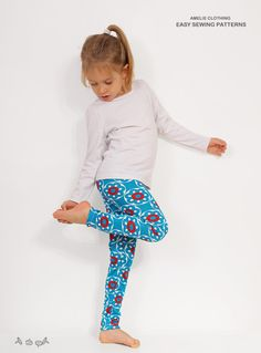 Girls LEGGINGS pattern pdf tutorial  tights for by AmelieClothing
