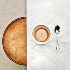#hotchocolate #marble #wood #concrete #clarieshouse | #iphone #instagram | Photo by kylielewis