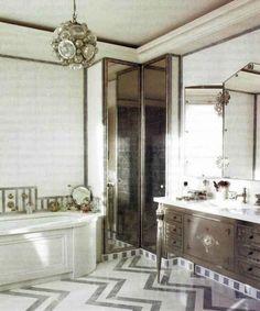 art deco interior design   Designs To Inspire Your 3311 › Art Deco Bathroom Interior Design ...
