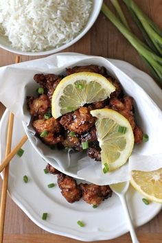 , Asian Style Chicken Nuggets with Lemon Glaze