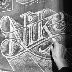 NIKE NY. Chalk Art by Carolina Ro