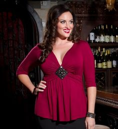 Love, love, love this gorgeous top! Fantastic color....and just enough cleavage!