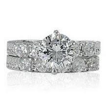 2.75-Ct. Austrian Crystal & CZ Wedding/Bridal/Cocktail Ring Set Sz 5-10