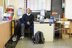 """Humans of New York:  """"I'm the new guy.  I've only been teaching for a year.  Before that, I ran  an after-school program in the library for a group of 5 to 12 year olds.   One day we were doing a lesson that involved building a structure out  of simple materials: manila folders, scotch tape, drinking straws,  things like that.  It was a pretty boring exercise.  But I went to Party  City and bought some yellow plastic hard hats,  and when I handed them out, they transformed the kids.  The…"""