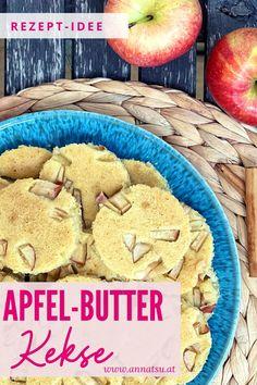 Heute gibt es gesunde Kekse von mir! Apfelküchlein oder auch Apfel-Butter-Kekse genannt. Diese Apfel Kekse sind ein super gesunder Snack für Zwischendurch. #apfelküchlein #apfelkekse #apfelkekserezepte #gesundekekse Super, Tricks, Paleo, Cookies, Desserts, Food, Healthy Biscuits, Yummy Food, Food And Drinks