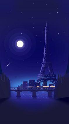 Eiffel Tower in The Night - Paris, French Landscape Wallpaper, Scenery Wallpaper, Nature Wallpaper, Galaxy Wallpaper, Cool Wallpaper, Wallpaper Backgrounds, Paris Wallpaper, Beautiful Wallpaper, Architecture Wallpaper