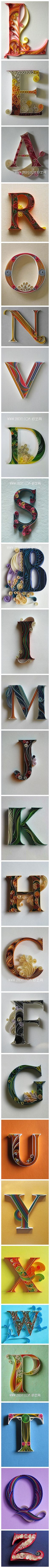 Quilling paper perhaps? DIY origami the derivative paper derivative paper letters appreciate Diy Projects To Try, Crafts To Do, Craft Projects, Arts And Crafts, Craft Ideas, Diy Paper, Paper Art, Paper Crafts, Recycle Paper