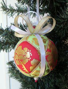Korean Traditional Hanbok Fabric Christmas by OrnamentDesigns