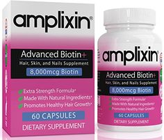 Amplixin Advanced Biotin Plus Supplement For Hair Growth Healthy Skin  Nails  60 Capsules >>> You can find more details by visiting the image link. Note:It is Affiliate Link to Amazon.