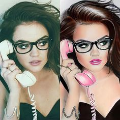Navasy Art | Portraits on photo  Lucy Hale by Natalia Vasilyeva #portraits