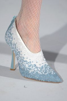 Oscar de la Renta. Love the blue...but how great would these be in black and white?!