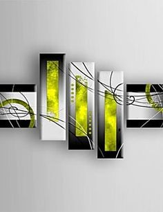 Oil Painting Modern Abstract  Set of  5 Hand Painted Canvas ... – AUD $ 243.09