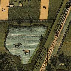 Birdseye view of Mattoon, Illinois image detail