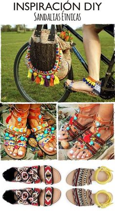 DIY Sandalias boho We are want to say thanks if you like to share this post to another people via your Estilo Hippie, Hippie Chic, Hippie Style, Boho Sandals, Bare Foot Sandals, Mode Shoes, Diy Sac, Diy Accessoires, Look Boho