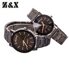 Couple's Fashion Lovely Simple Calibration Quartz Steel Belt Wrist Watch(Assorted Colors) – USD $ 6.29