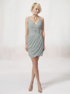 V Neck Bridesmaid Dress with Beaded Waistband | Plus and Petite sizes available! Hundreds of styles, tons of colors!
