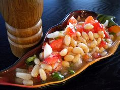 Spicy White Bean Salsa ~ this whips up in minutes!  Great as a side or serve with chips as a salsa..