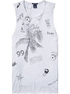 Scotch & Soda - Amsterdam Couture - Clothing, Fashion and Tee Shirt Homme, T Shirt, Couture Outfits, Scotch Soda, Latest Fashion Trends, How To Look Better, Tank Man, Cool Outfits, Tank Tops