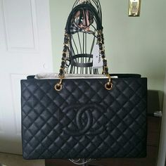 75bc567c958beb CHANEL GST XL shopping tote / bag New authentic Chanel grand extra large  handbag with tag