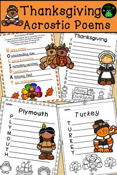 Before Hosting A Thanksgiving Party Thanksgiving Writing, Thanksgiving Activities, Holiday Activities, Writing Activities, Fun Activities, Teaching Resources, Thanksgiving Crafts, Educational Activities, Acrostic Poems