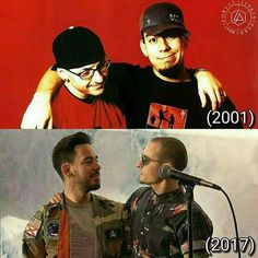 Mike and chester lp<<<< when someone as amazing as you passes, we forget the true light of you being here is like. So many loved you and wanted you to stay around. Please Rest In Peace and don't feel the pain that depression can cause anymore. Chester Bennington, Charles Bennington, Mike Shinoda, Linking Park, Joe Hahn, Rob Bourdon, Linkin Park Chester, Nu Metal, Music Love