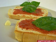Tuscan Tomato Bruschetta is a very easy traditional Italian treat. The key for a great bruschetta is the use of quality ingredients such as fresh riped tomatoes, crusty bread and Extra virgin Olive Oil. This recipe is base for many variations and perfect as yummy and delicious appetizer or healthy and fresh snack.