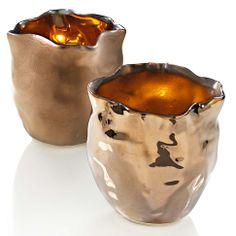 Teelichthalter-Set, 2-tlg. in bronze bei IMPRESSIONEN