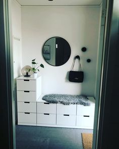 Future home ❤️ – Halss Garderobe Modern Design, Nordli Ikea, Bedroom Storage, Bedroom Decor, Design My Room, Minimalist Home Furniture, Student Room, Vanity Room, Bench With Storage