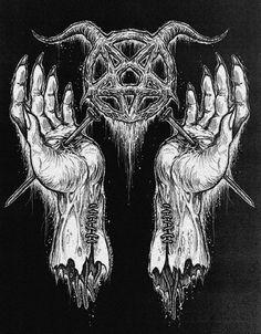 Satanic Tattoos, Satanic Art, Arte Horror, Horror Art, Dark Art Illustrations, Illustration Art, Evil Art, Arte Obscura, Demon Art